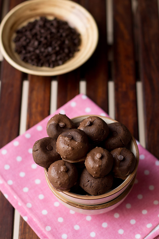 Eggless Double Chocolate Cookies recipe