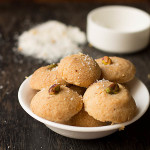 Eggless Coconut Cookies Recipe, How to make Eggless Coconut Cookies Recipe