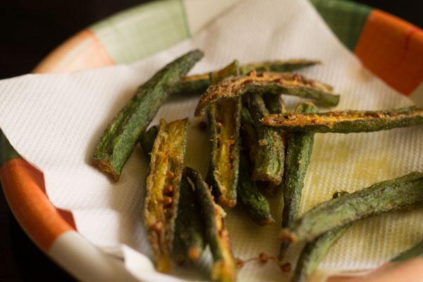 kurkure bhindi or bhindi fry 13