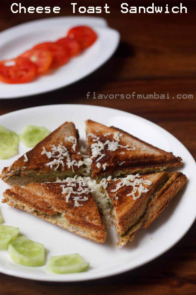 Cheese Toast Sandwich with 4 ingredients (Mumbai Roadside Snack)