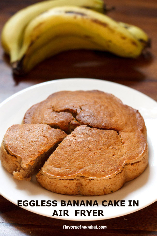 Banana Cake in Airfryer (Eggless & Vegan)