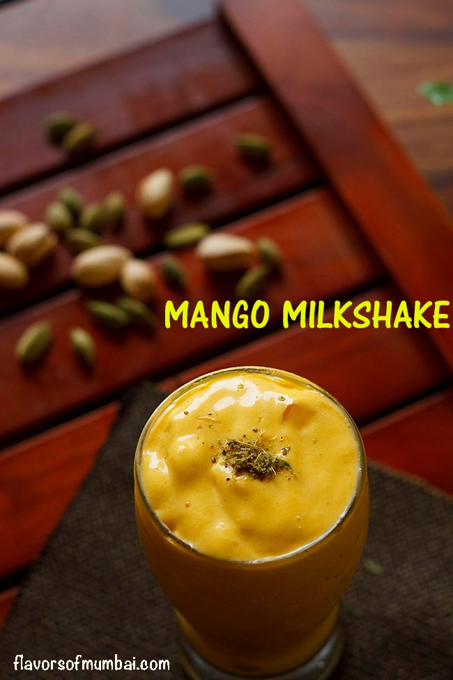 Mango Milkshake Recipe, How to make Vegan Mango Milkshake