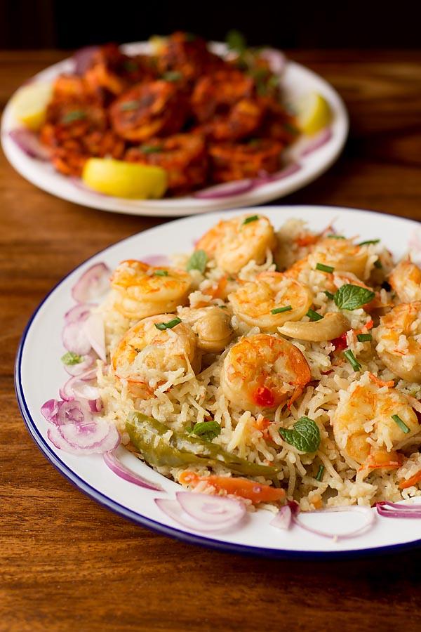 Goan Prawns Pulao, How to make Goan Prawns Pulao Recipe | Prawns Recipes