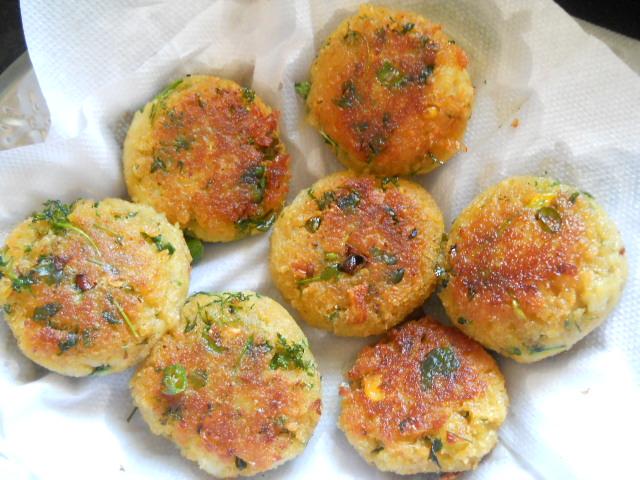 Corn Tikki Patties Recipe