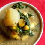 Corn Spinach Curry, How to Make Corn Spinach Curry Recipe