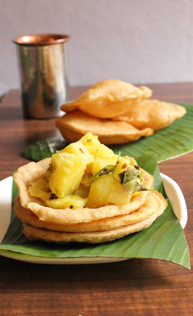 Puri Bhaji Recipe, How To Make Puri Bhaji recipe   Mumbai Street Food