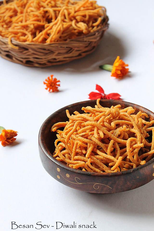 Sev Recipe, How to make Besan Sev, Easy Sev Recipe   Diwali Snack