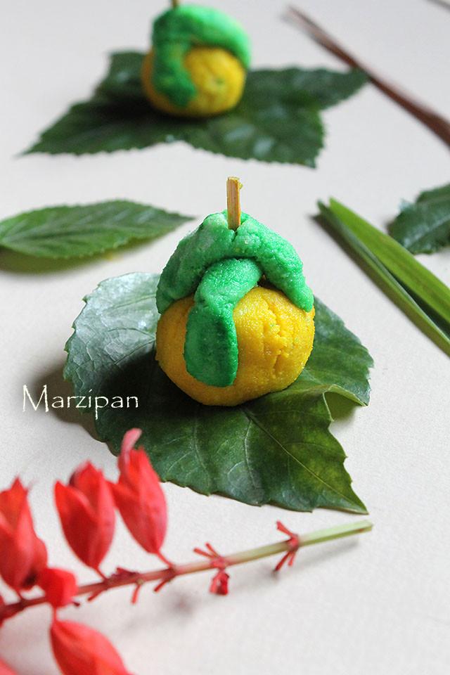 Marzipan Christmas Sweets Recipe – Marzipan Sweet Recipe | Goan Sweet