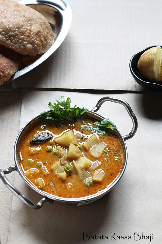 Batata Rassa Bhaji Recipe, How to make Batata Rassa Recipe | Maharashtrian Cuisine