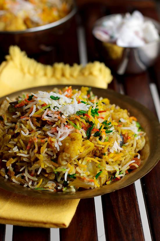 Hyderabadi Vegetable Biryani (step by step)